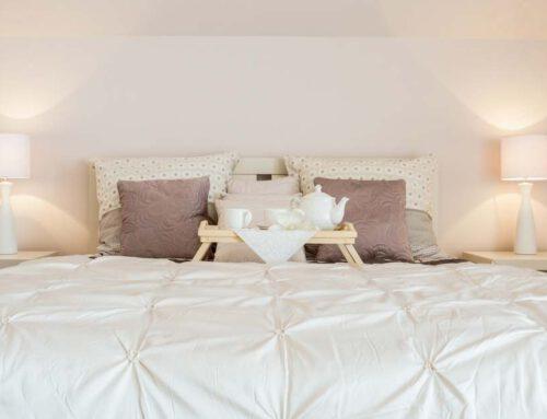 Dormitorio de matrimonio con buen feng shui
